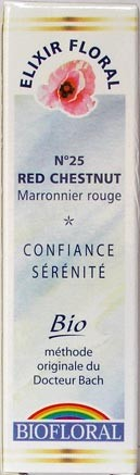Fleur de Bach n°25 Red Chestnut - Marronnier rouge